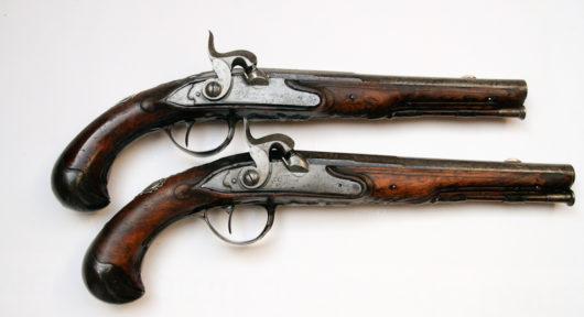 Pair of Flintlock Pistols, converted