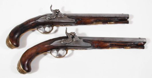 Pair flintlockpistols converted