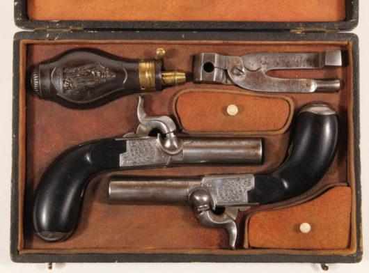 Pair Percussion Pocket Pistols in Case