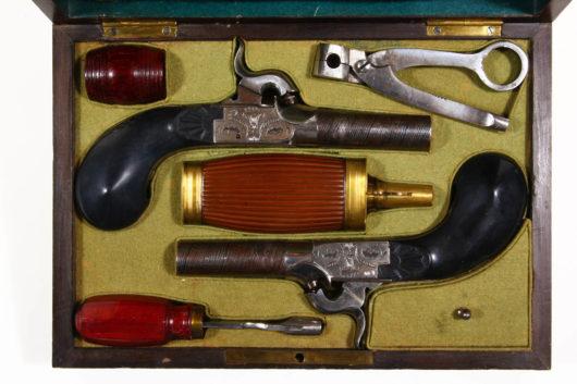 Pair Percussion Pistols in Case