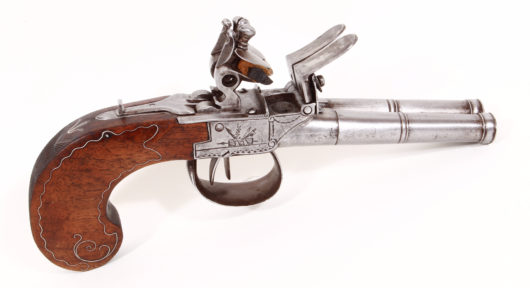 15090 - Doublebarreled Flintlock Pistol