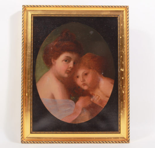 Oil painting, German mid 19th century