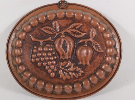 Copper baking pan circa 1820