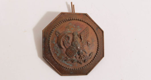 Bronze Badge with US Eagle